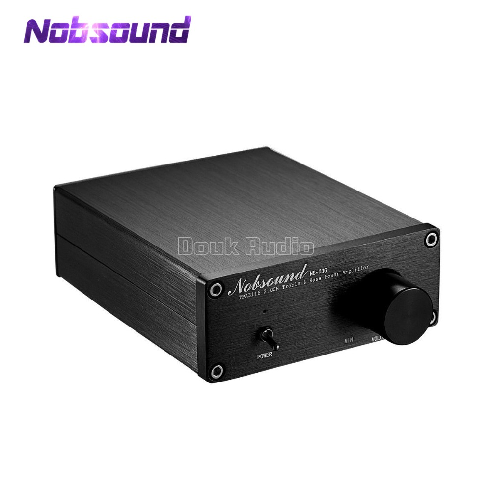 2018 Latest Nobsound Mini Digital Audio Power Amplifier Hifi Tpa3116 100w Mosfet Amp Stereo Music 2 Channel 100w2 Black Chassis In From Consumer Electronics On