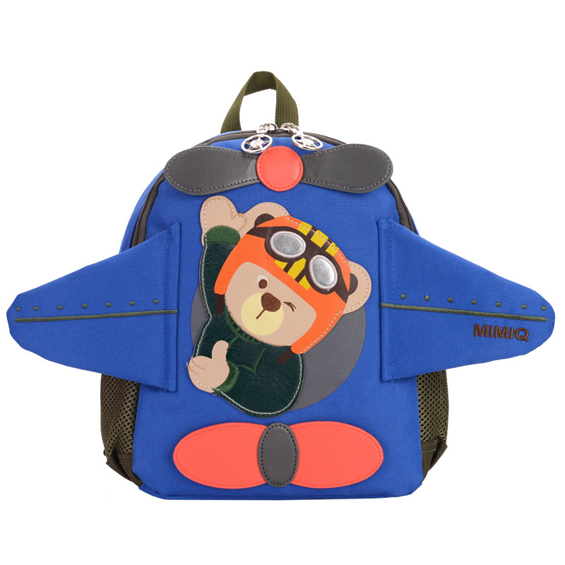 2018 Cute kindergarten Backpacks Kids children School Bags boys Cartoon Bear Canvas Backpacks kdis Mini Baby Toddler Book Bags