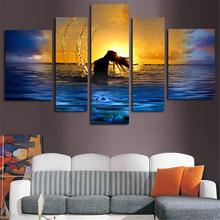 Unframed 5Plane Wall Painting Canvas Wall Art Picture Sexy Girl In The Sea Poster Printed Home Decoration Living Room Decoration