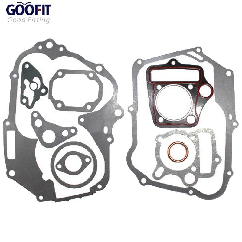GOOFIT Complete Gasket Set For 110cc Kick Start Dirt Bike Motorcycles Accessory Gasket Set K078-012
