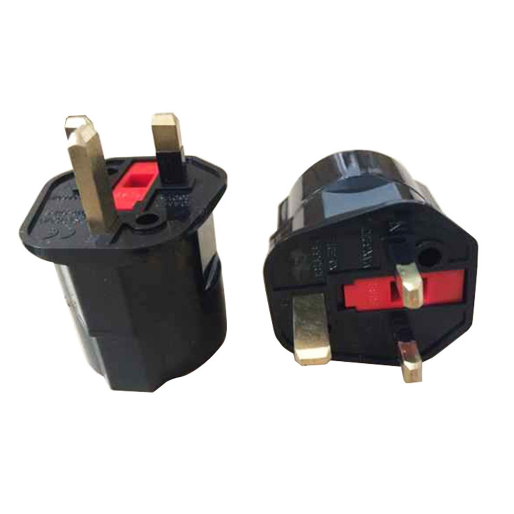 EU Euro 2 Pin to UK 3 Pin Plug AC Universal Adapter Travel Converter European Jul12 стоимость