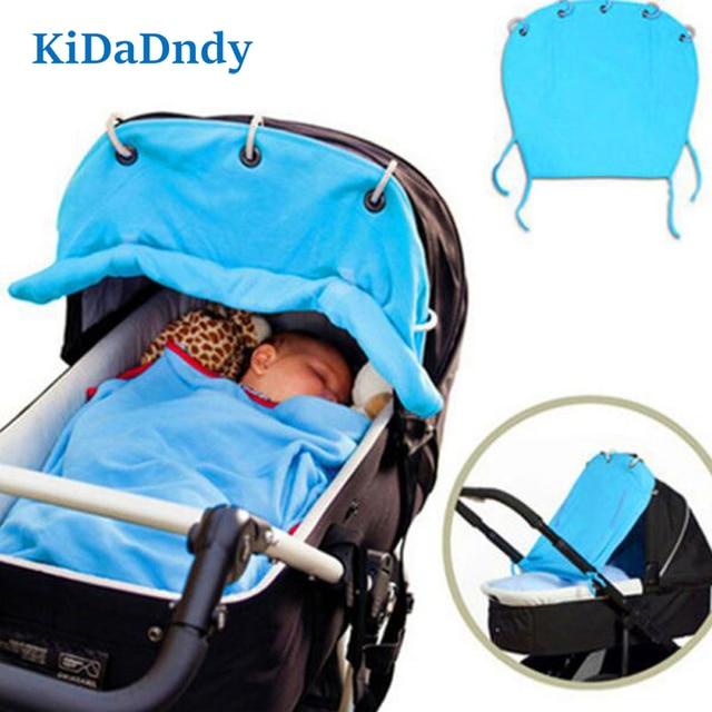 Kidadndy ser enrollado SunPure tela de algodón de sombra de ventilación cochecito de bebé es impedido disfrutar cortinas protección CoverKSZQ225R