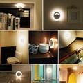 Sem fio motion sensor 8 led lâmpada de parede luz da noite sob a luz do armário do armário de parede interior decoração do quarto da lâmpada