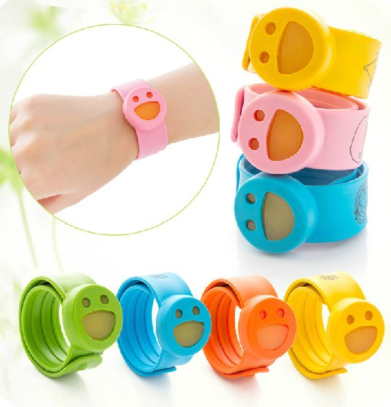 Natural Children Insect Citronella Mosquito Repellent Baby Anti Silicone Ring Wristband Wrist Watch Bracelet