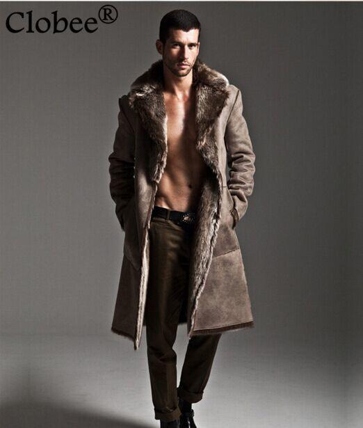 Artificial Fur Coat 2019 Winter Mens Faux Fur Coats Jackets Parka Windbreaker Two Ways Wear Plus Size Long Fur Overcoat S71 Jackets