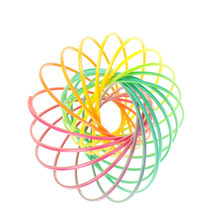 Plastic Magic Flowring Toys Toroflux Rainbow Color Kinetic Spring Flowtoys Anti Stress Magic Flow Ring For Kids Adults Children(China)
