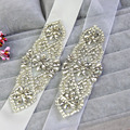 2016 Crystal Rhinestone Pearls Wedding Belt Cummerbunds Handmade Prom Evening Gown Sash Waistband Girdle Wedding Accessories