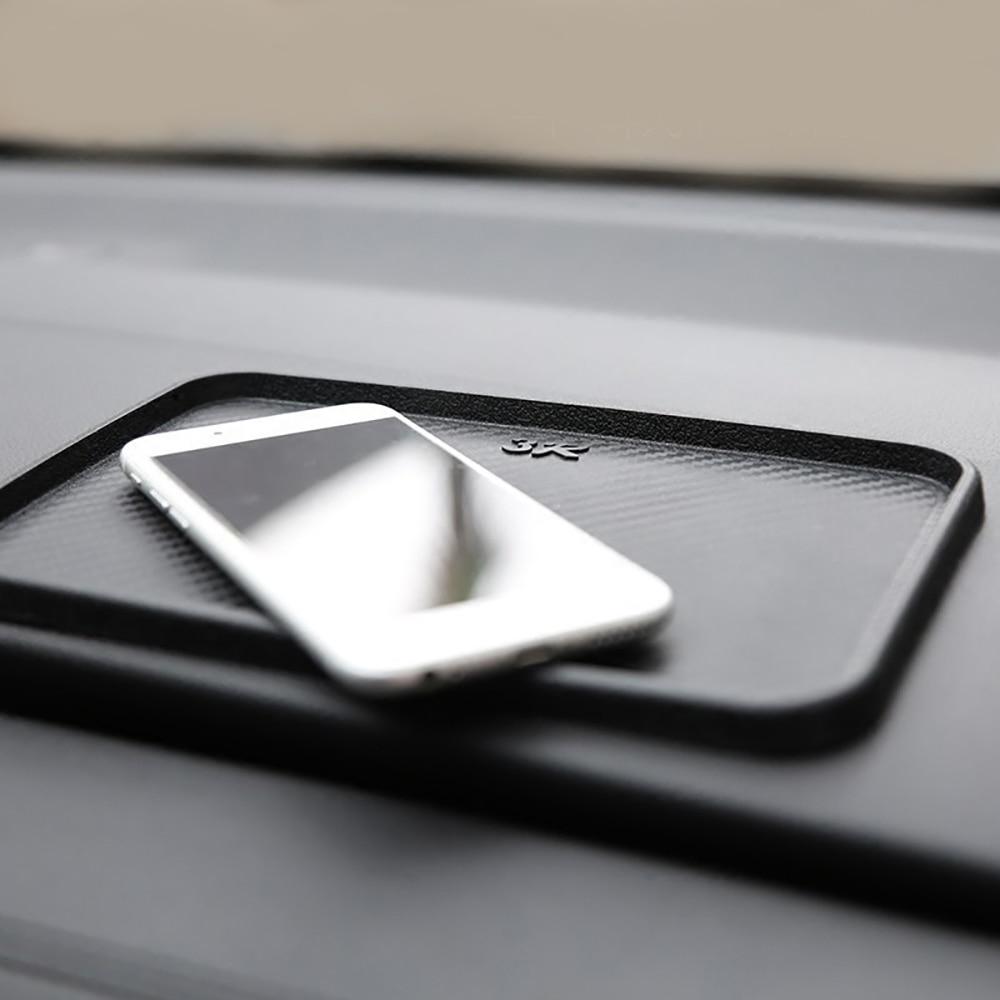 20*12.5cm PU Carbon Fiber Pattern Car Phone Holder Anti-slip Mat Automobiles Interior Dashboard Sticky Pad Cushion Accessories