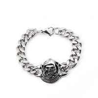 Never Fade 316 Stainless Steel Men Skull Bracelet Wristband Sons Of Anarchy Bracelet For Male Accessories