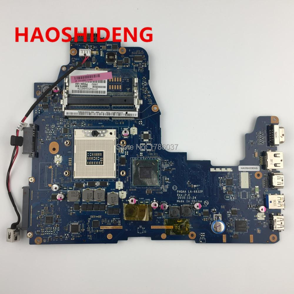 K000128590 LA-6832P for Toshiba Satellite A660 A665 series Laptop Motherboard .All functions fully Tested ! источник света для авто s25 1156 p21w 20w ba15s