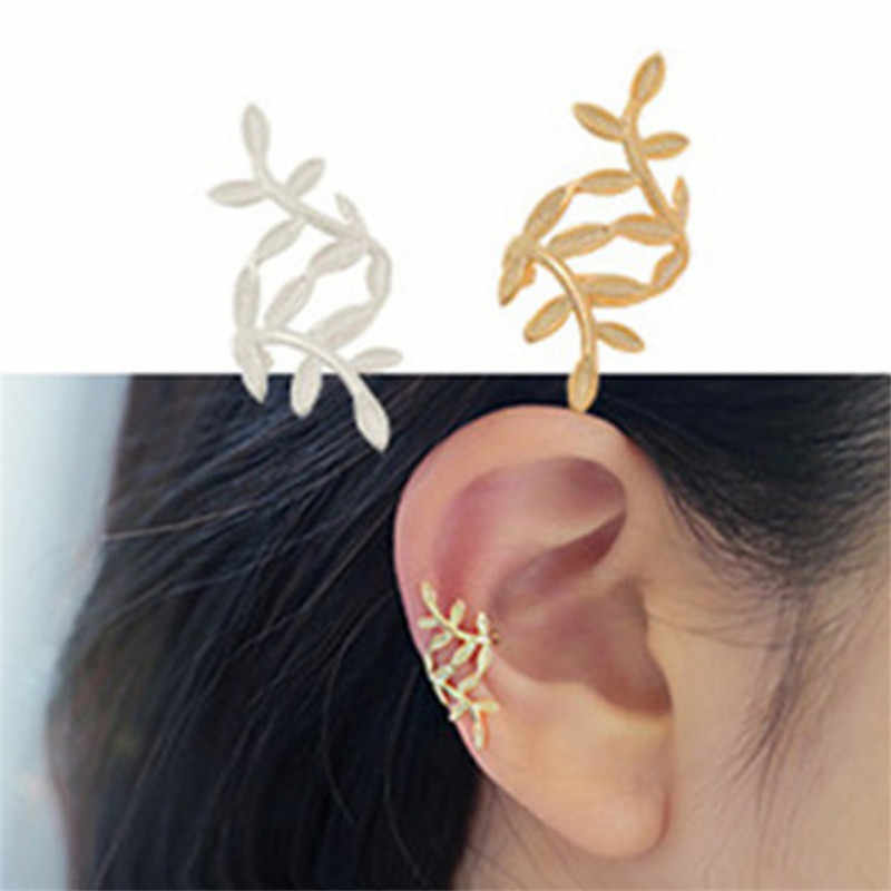 Female Jewelry Fashion Female Personality Spread Leaf Ear Clips, No Pierced Ears, One