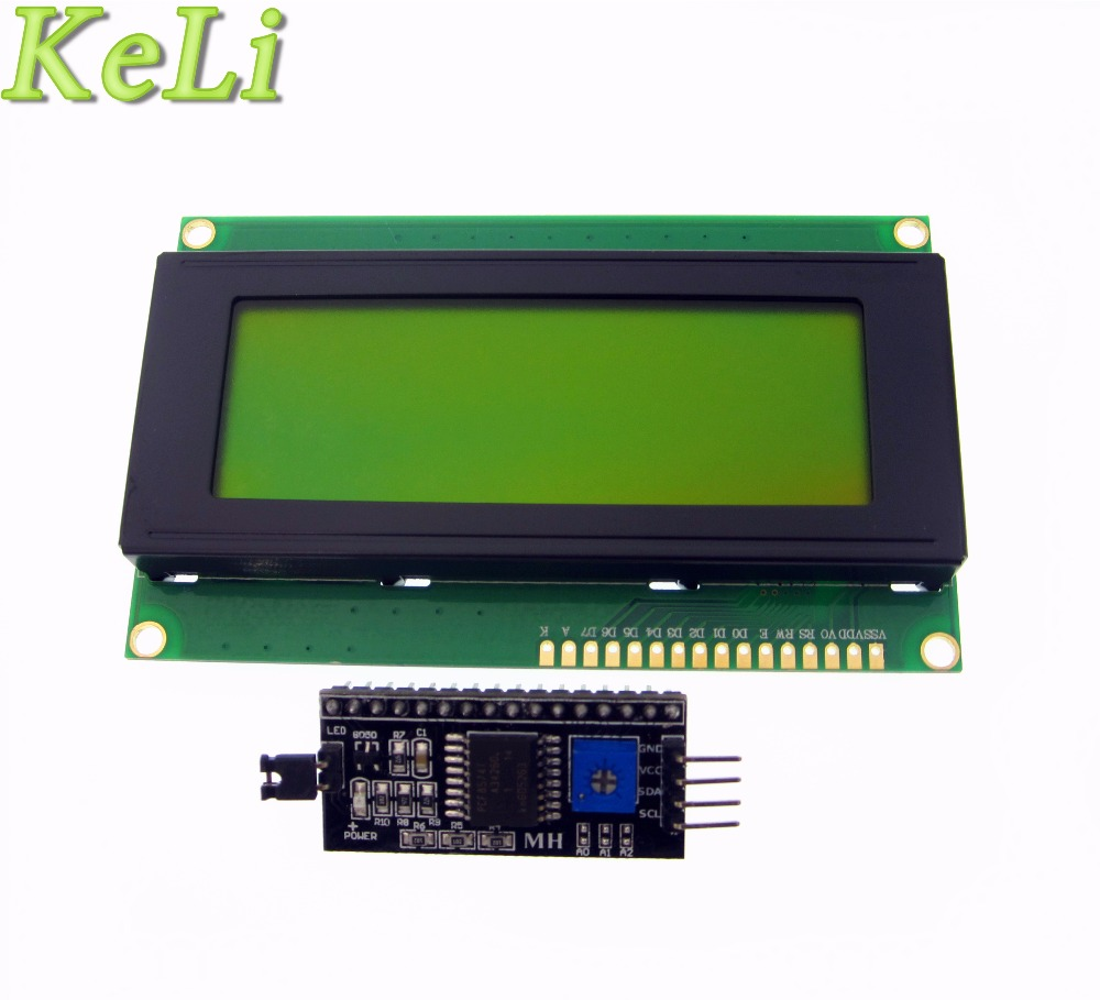 10PCS LCD2004+I2C 2004 20x4 2004A Blue/Green Screen HD44780 Character LCD/w IIC/I2C Serial Interface Adapter Module