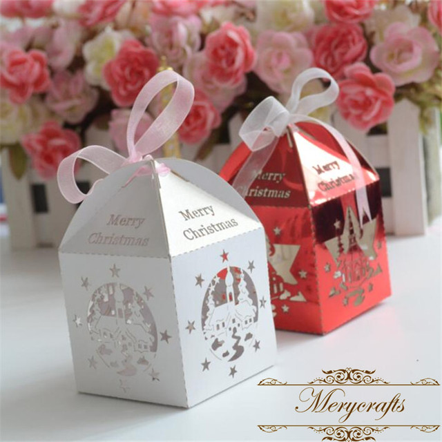 40pcs Laser Cut Gorgeous Small Hot Decorative Christmas Invitation Delectable Small Decorative Gift Boxes