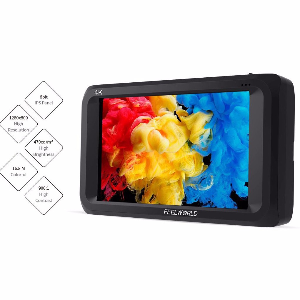 DHL Feelworld S450-M 4.5 Inch IPS 4K HDMI 3G-SDI On-camera Field Monitor 1280x800 Camera External LCD Monitor with Peaking Focus