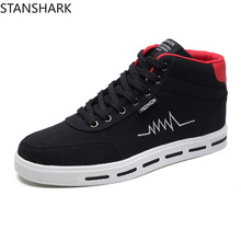 Fashionable High Mens Sneakers Breathable Casual Shoes Flat Vulcanized Classic Outdoor Canvas