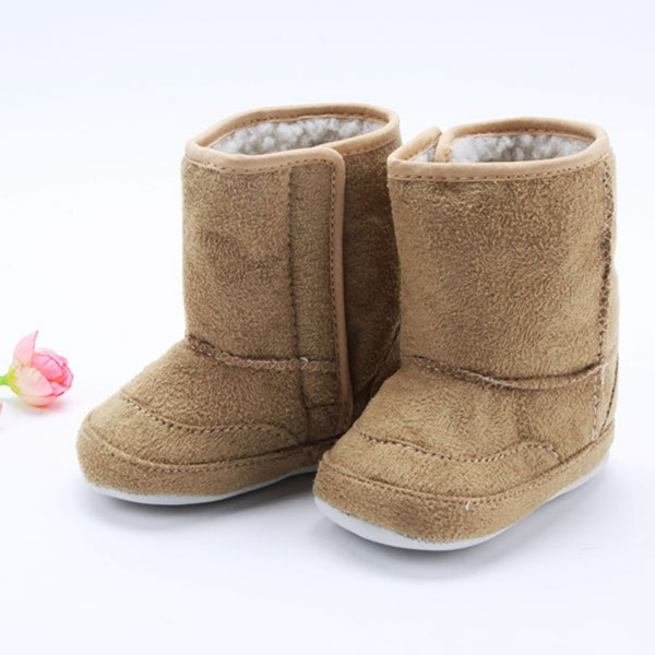New Baby Infant Toddler Crib Shoes Boys Girls Fur Winter Snow Boots Shoes 0-18M P1