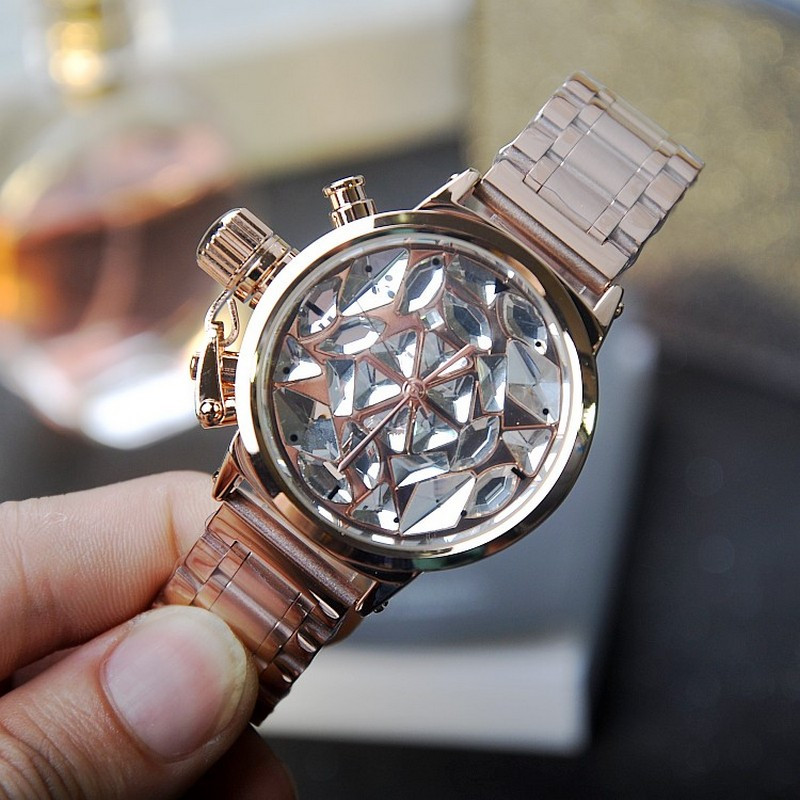 Women Watch Stainless Steel Watches luxury Lady Shining Dress watch Big Diamond Stone Wristwatch relojes para mujer gold watchWomen Watch Stainless Steel Watches luxury Lady Shining Dress watch Big Diamond Stone Wristwatch relojes para mujer gold watch