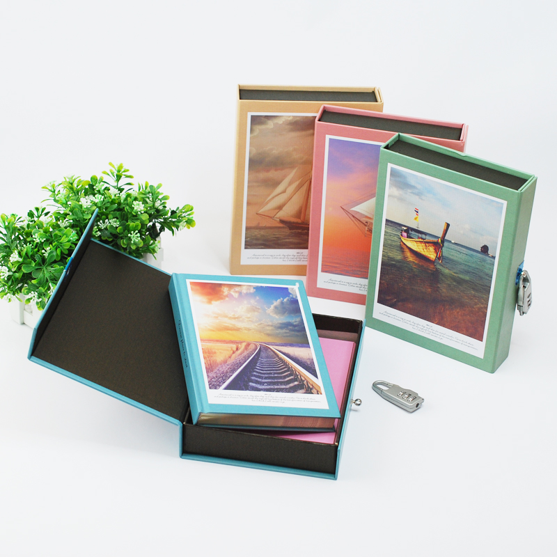 ФОТО Mercii New Arrival Classical Diary A5 Boxed with Lock Diary Fashion Vintage Notebook Notepad Lanscape Journal Diary Xmas Gift
