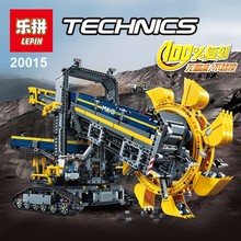 LEPIN 20015 technic series 3929pcs Bucket wheel excavator Model Building Kits Minifigure Blocks Bricks Toy Gift Compatible 42055