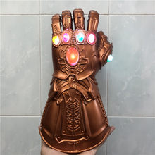 1:1 Thanos Sarung Tangan Perang Tantangan LED Light Action Figure Cosplay Prop Halloween Anak-anak Hadiah(China)