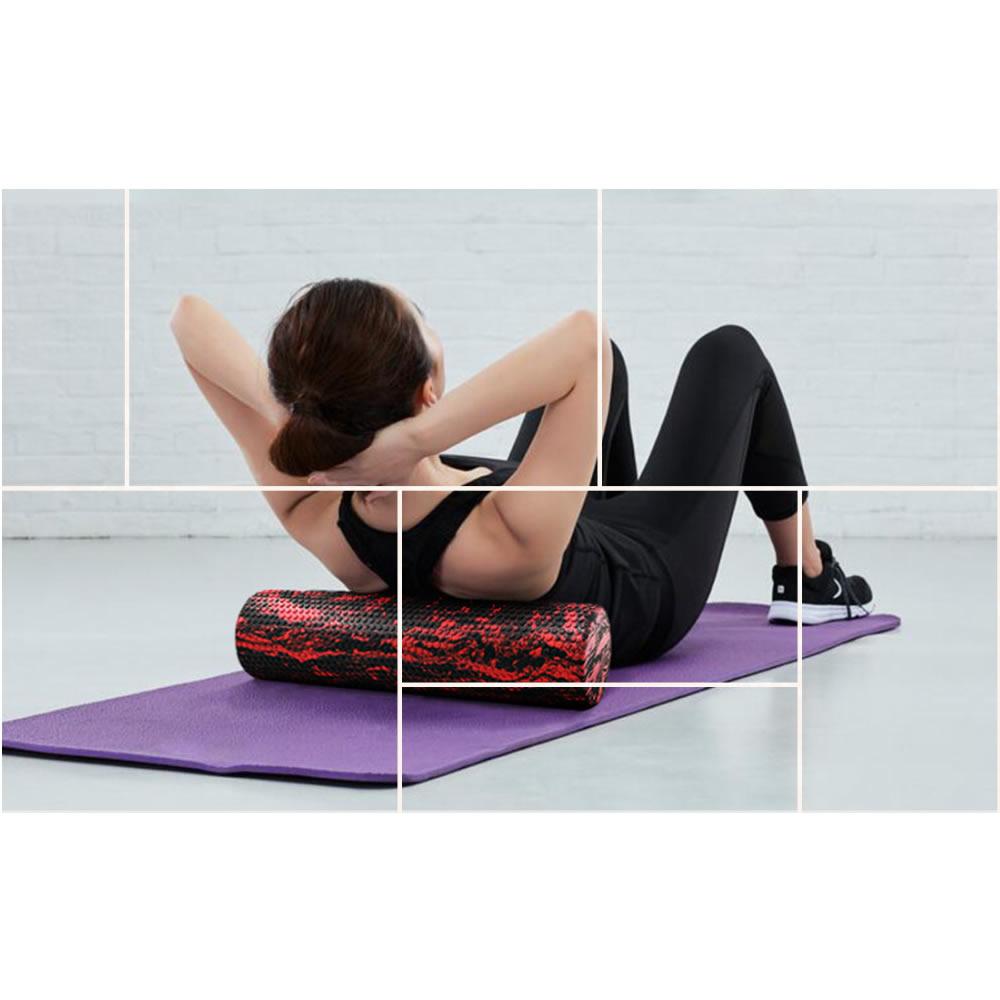 60/45cm Yoga Block Pilates Foam Roller Trigger Point Massage Roller Muscle Tissue for Fitness Gym Yoga Pilates Sports 3