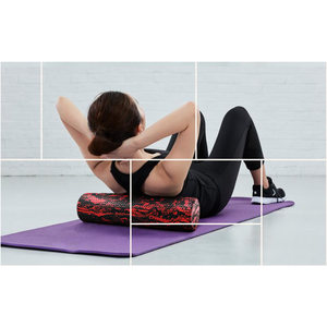 Image 5 - 60/45cm Yoga Block Pilates Foam Roller Trigger Point Massage Roller Muscle Tissue for Fitness Gym Yoga Pilates Sports