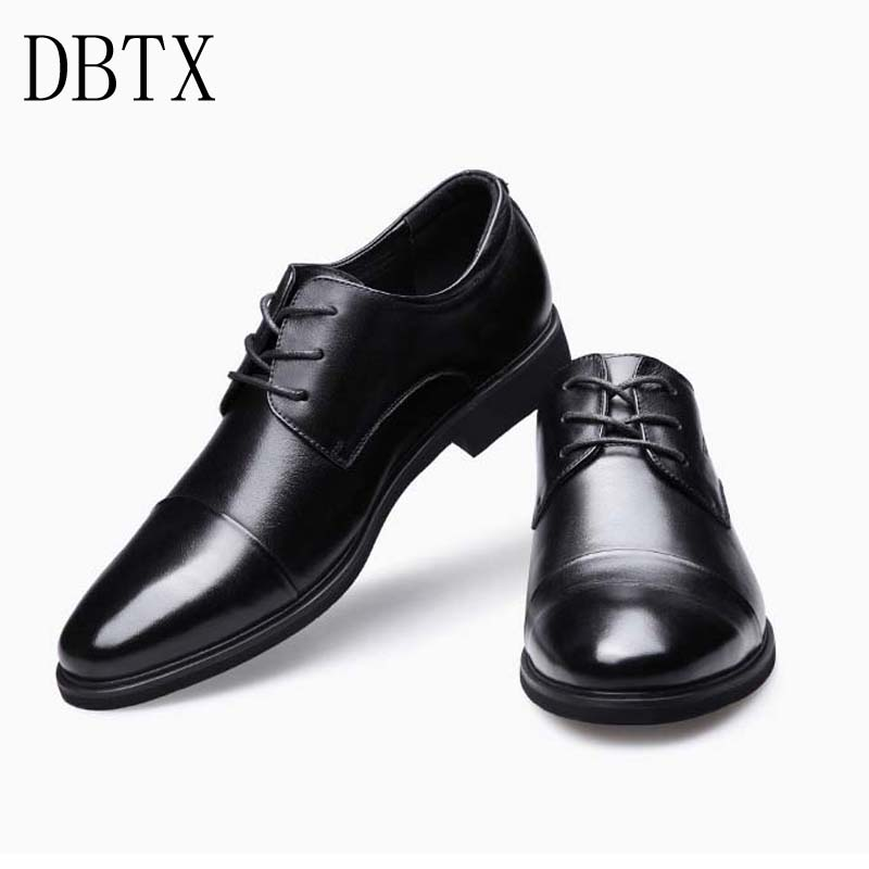 Big Size 48 New Men Dress Shoes casual Gentlemen Split Leather Shoes Formal Shoes Business Style Slip On Men Shoes 335 2018 height increasing leather business men slip on dress shoes split leather wedding shoes for men size 38 43