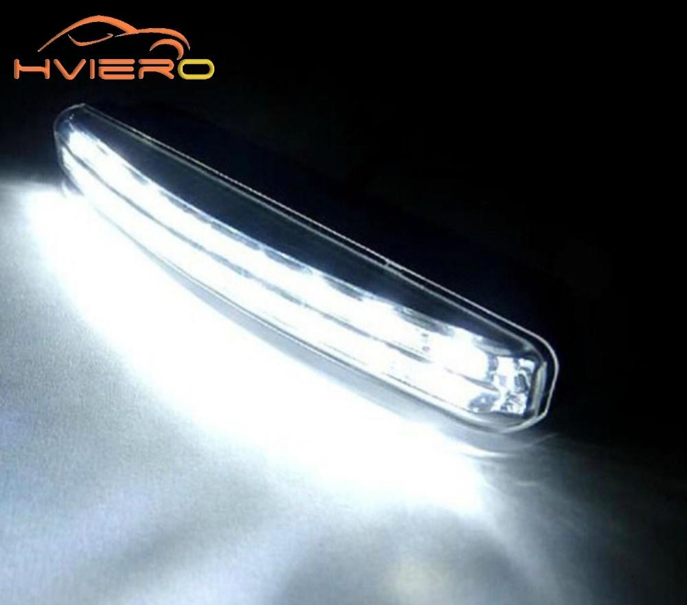 1pcs Car Daytime Running Light 8LED DRL Super White DC 12V Head Lamp Parking Fog Lamp Waterproof Light Car Styling Accessories