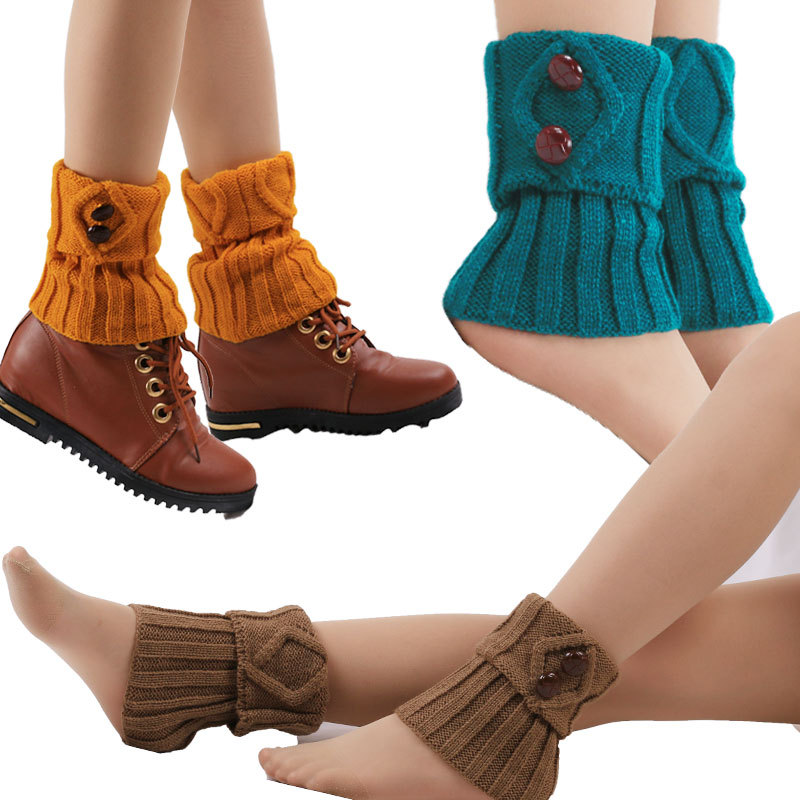 Leg Warmers Leggins Invierno Mujer Knitted Leg Warmers Winter Socks Medias Solid Hosieryhome Socks Knitted Warmth 8 Words In The Floor Socks Underwear & Sleepwears