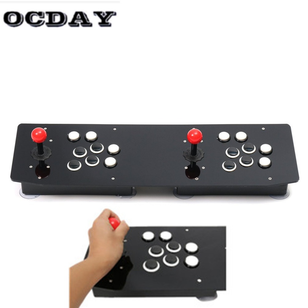 OCDAY Video Game Joystick Controller double Arcade Stick Gamepad for Windows PC USB Ergonomic Design Enjoy Fun Game ocday video game joystick controller double arcade stick gamepad for windows pc usb ergonomic design enjoy fun game