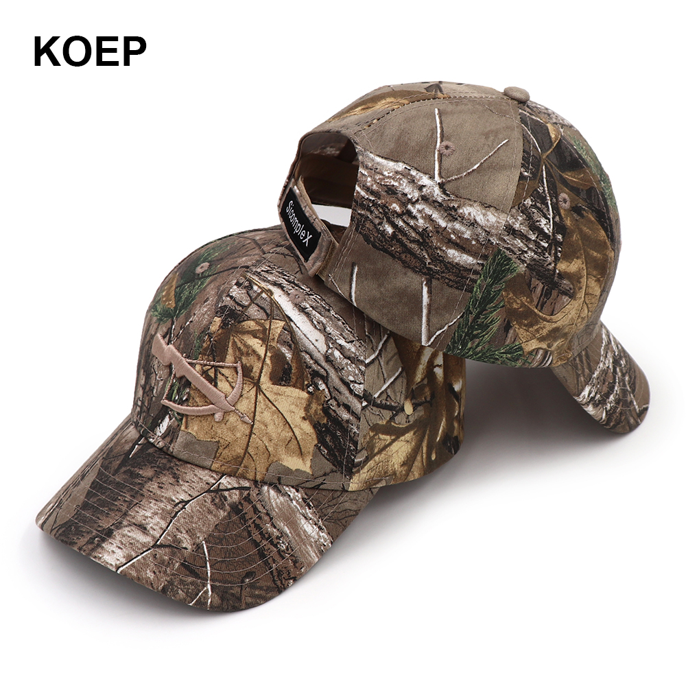 KOEP SicompleX Camo   Baseball     Cap   Fishing   Caps   Men Outdoor Hunting Camouflage Jungle Hat Women Hiking Hats Crossbow Embroidered