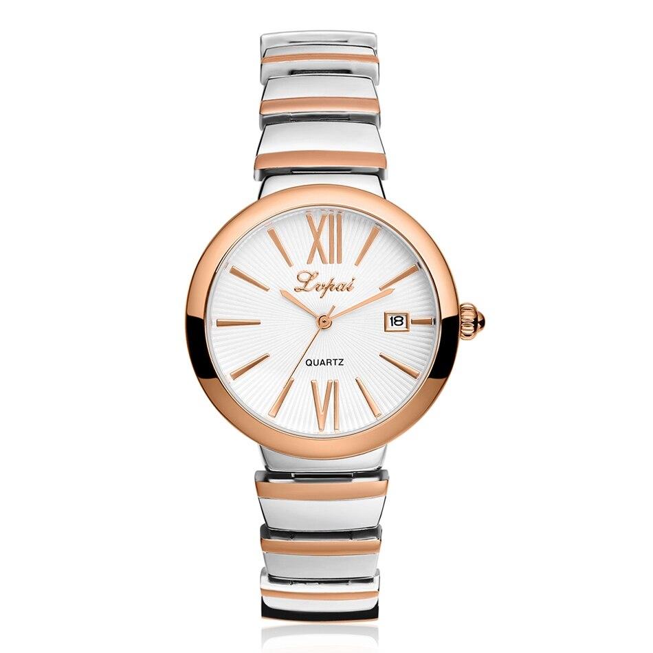Lvpai Brand 2016 Famous Gold Women Bracelet Dress Watches Wristwatch Luxury Stainless Steel Clock Quartz Casual Watches baosaili famous brand women quartz analog watches gold stainless steel wristwatch hollow lady gift relojes luxury hodinky clock