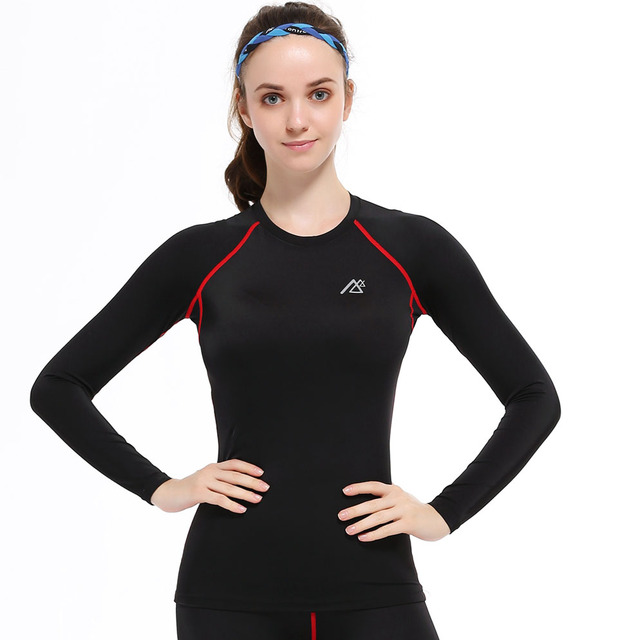 Life On Track Women T-Shirt Compression Base Layers Under Tops Tight Skins Bodybuilding Workout Fitness Slim Fit Wear