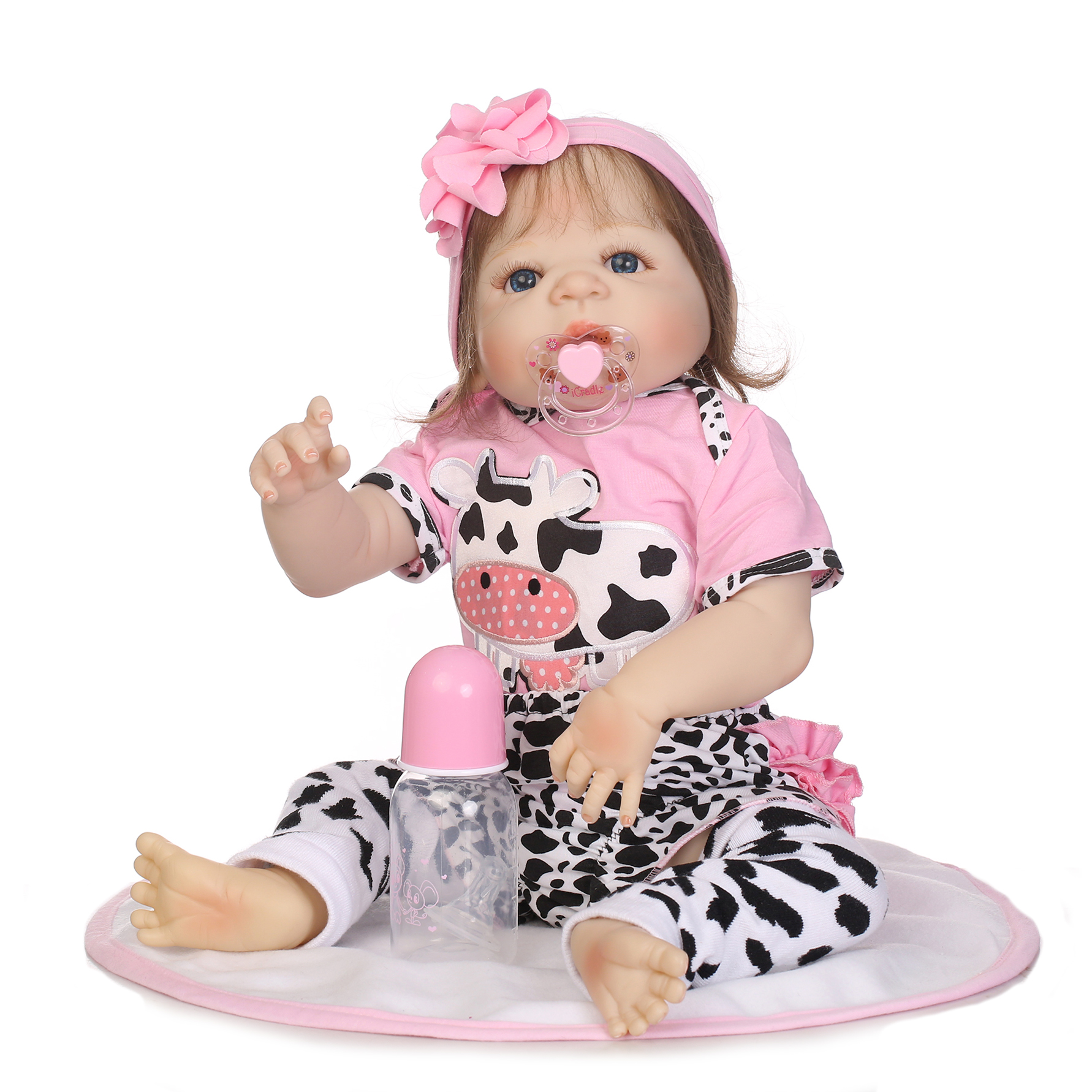 57cm Full Silicone Reborn Baby Doll Toy for Girls Vinyl Newborn Dolls Kids Child Gift Birthday Christmas Girl Brinquedos Toys silicone reborn baby doll toy lifelike reborn baby dolls children birthday christmas gift toys for girls brinquedos with swaddle