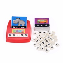 New Children English Spelling Alphabet Letter Game Early Learning Educational Toy Gift Kids Language teaching Random Color wooden cardboard english spelling alphabet game early education educational toys educational toy gift creative games brinquedos