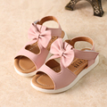 Girls Sandals Summer Shoes 2016 Summer New Arrival Bow HollowSandals Children Solid Fashion Shoes Kids 9036W