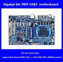 Бесплатная доставка оригинальные платы для gigabyt GA-780T-USB3 DDR3 разъем AM3 + 780T-USB3 16 ГБ USB3.0 sata ii рабочего Материнская плата