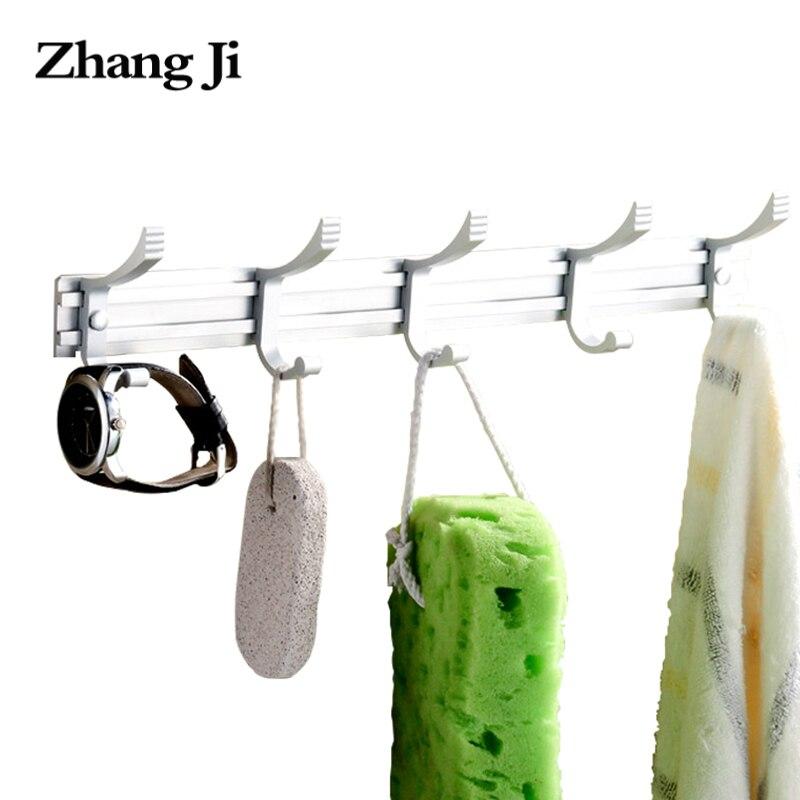 Zhangji прочный Алюминий сплав Крючки для халатов Ванная комната пальто держатель Soild одежда халат стойки крюк для Полотенца Кухня Accesorios ZJ128