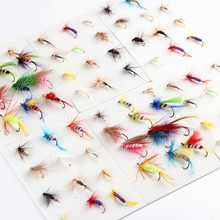Anmuka Wholesale Top quality dry fly lures Anmuka 120pcs brand new various fly fishing lures Fishing Tackle fly fishing bait