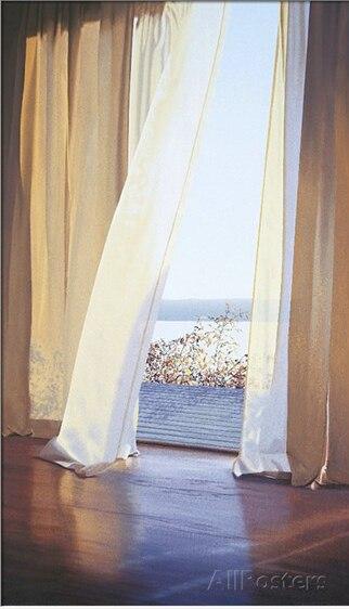 Art décoratif vue mer ambre lumière par Alice Dalton brun peinture haute qualité Photo sur toile paysage peint à la main