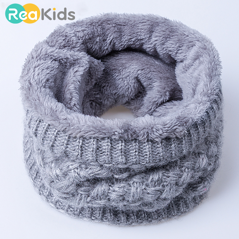 New Winter Scarf For Men Women Children Neck Wool Collar Scarf Adult Baby Scarf Cotton Thickened Scarves Baby Warm Neck Scarves