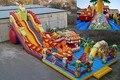 (China Guangzhou) corrediças infláveis, castelos infláveis, piscina inflável slideTOB-12