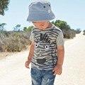 Meninos de verão Crianças Moda T-shirt infantil Do Bebê Do Menino T-shirt Camisas de Manga Curta Top Tee Roupas