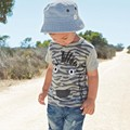 Summer Boys Children Fashion T-shirt Kids Baby Boy Tees Shirts Short Sleeve Top Tee Clothing