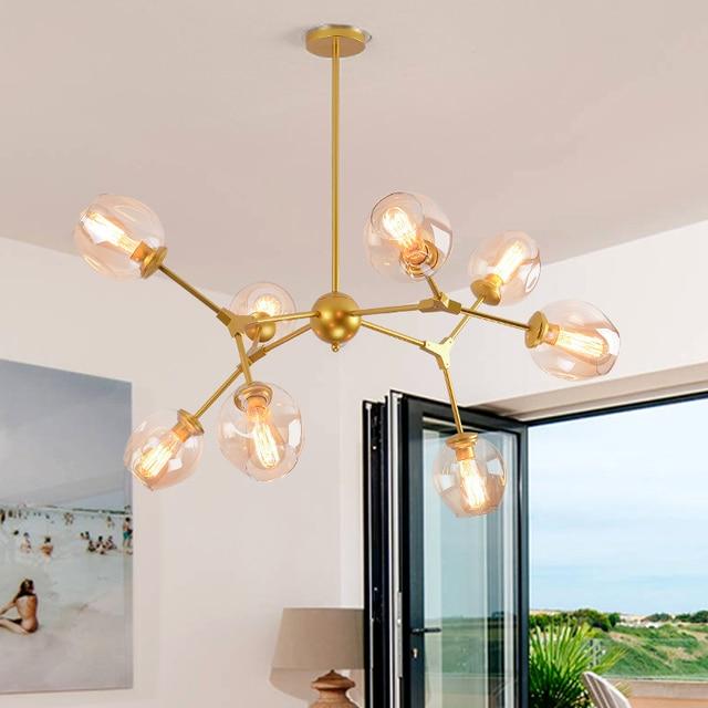 Bola de cristal moderna Lámparas colgantes lámpara colgante cocina ...