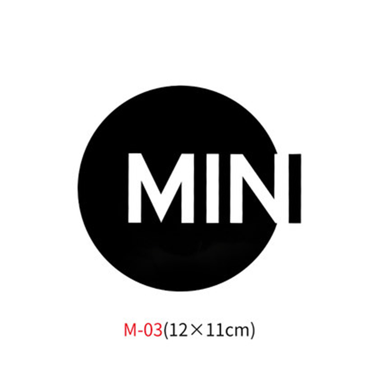 Различные автомобильные наклейки Union Jack для Mini Cooper One S JCW Countryman Clubman F55 F56 R55 R56 R60 F60 автомобильные аксессуары - Название цвета: M-03