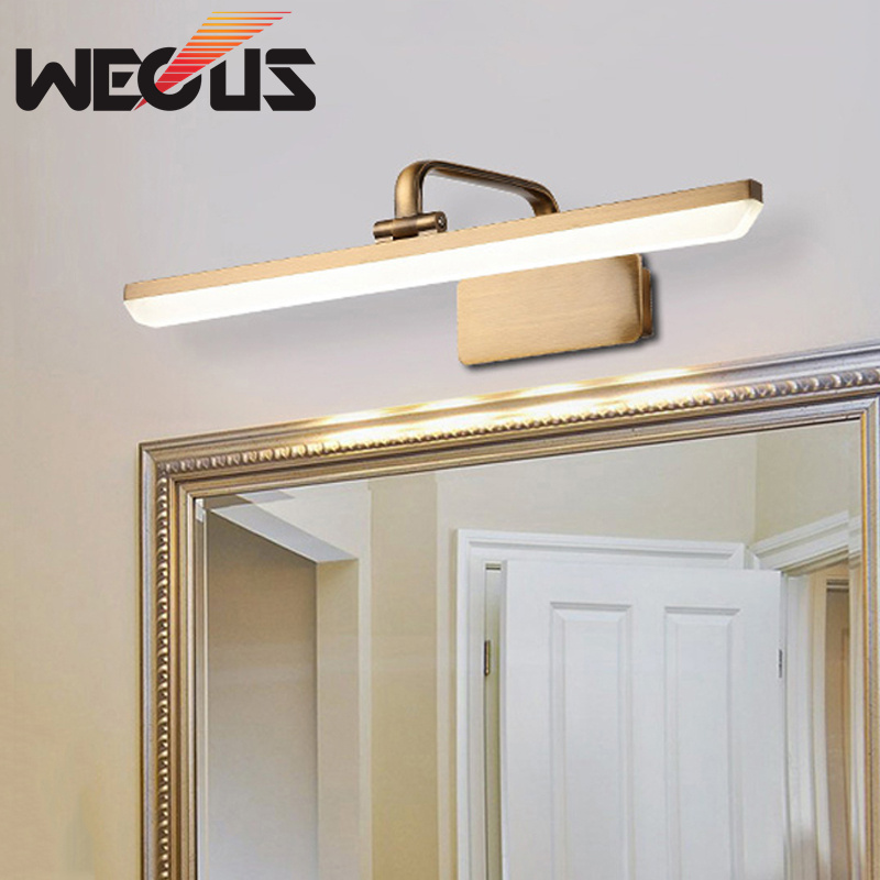 best service b1fbd b7093 US $15.96 44% OFF|Europe bronze Body LED Vanity Mirror Lights for Makeup  Dressing Table Vanity Set Lamp Bathroom Wall Lighting Kit 30cm 6W-in LED ...