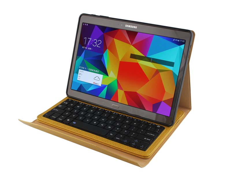 For Samsung Galaxy Tab S 10.5 T800 Crazy Horse Removable Wireless Bluetooth Russian/Hebrew/Spanish Keyboard Stand Leather Case removable wireless bluetooth russian hebrew spanish keyboard stand pu leather case for samsung galaxy tab a 9 7 t555 t551 t550