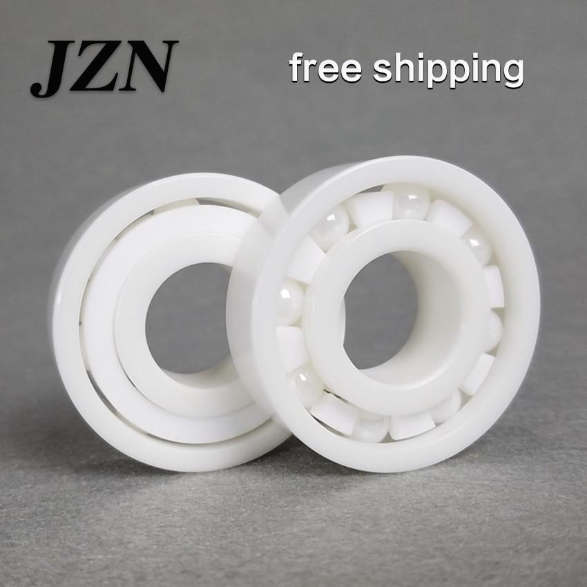Free shippng 608 6000 6001 6002 6003 6004 6005 6006 6007 6008 6009 6010 full ZrO2 ceramic ball bearing zirconia bearing professional 608 full ceramic bearing zro2 ball bearing 8x22x7mm zirconia oxide new with corrosion resistance