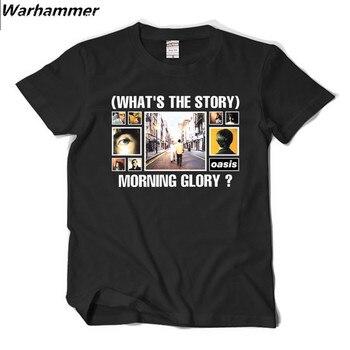 Camiseta de hombre de estilo Britpop Rock impresa de algodón de manga corta cuello redondo Camiseta Homme Hip Hop Streetwear Oasis Fans camisetas